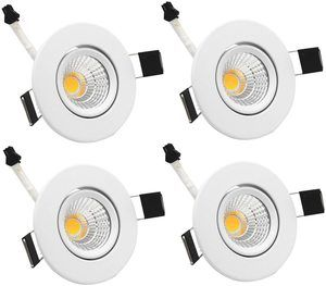 14. LED Downlight ZDPCYT 3W COB 110V Dimmable Ceiling Lights