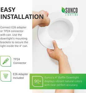 5. Sunco Lighting 10 Pack 4 Inch LED Recessed