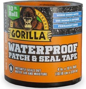 #1. Gorilla Waterproof Seal and Patch Tape Black,
