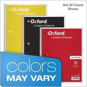 #1. TOPSOxford Notebooks, College Rule,