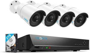 #2. Reolink 4MP 8CH PoE Video camera System, Wired Outdoor 1440P 4-piece
