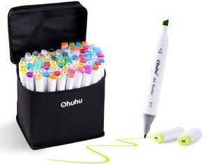 #4. 60 Colors Alcohol Ohuhu Double Tipped Art Markers