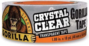 #7. Gorilla Duct Tape, Clear 1.88-Inch x 18 yards