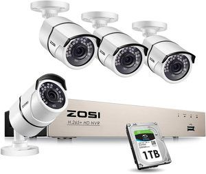 #7. ZOSI PoE Home Security Camera, 8Channel 5MP CCTV