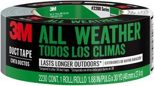 #8. 3M All Weather 2230-HD Duct Tape, 1.88 inches wide