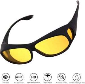 #9. Night Vision Glasses with UV Protection Anti-Glare Rainy Sunglasses for Driving