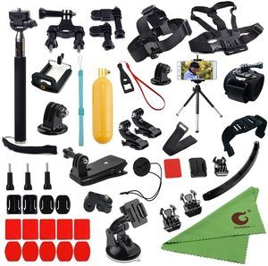 #2. Xixihaha 45-in-1 Gopro Accessories Kit