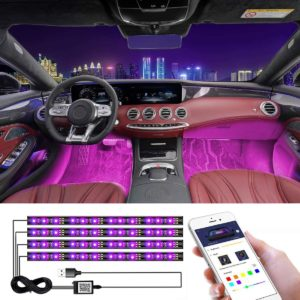 #2. Coding Car LED Strip Lights with Accessories
