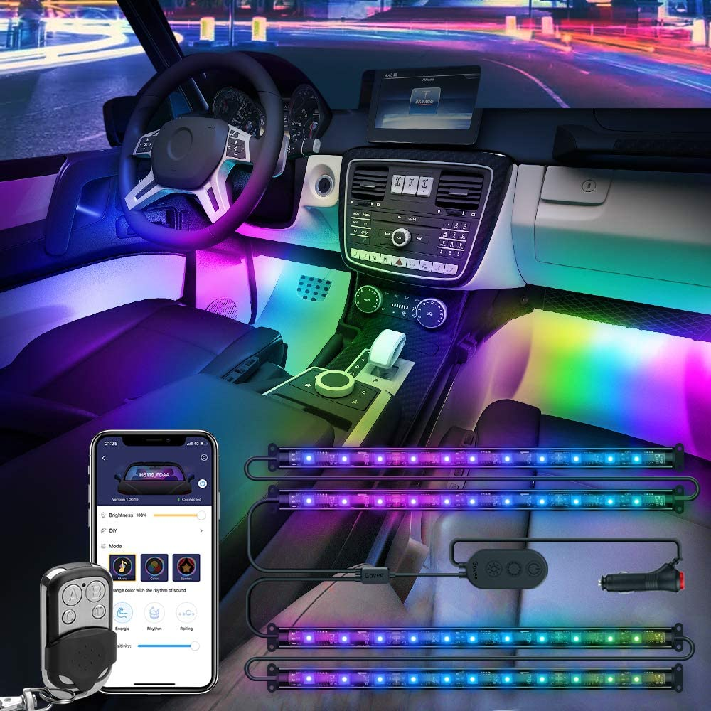 #6. Govee Color Changing Car Lights