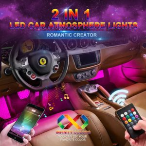#7. WSIIROON LED Color Changing Car Lights