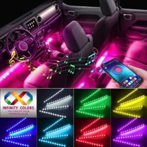 #9. Caferria Color Changing Car Lights