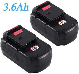 #4. 2packs PC18B 3.6Ah 18Volts Batter