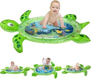 #3. gebra Inflatable Tummy Time Water Mat