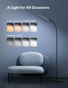 #5 TaoTronics TT-DL072 LED Floor Lamp, Modern & 4 Colors
