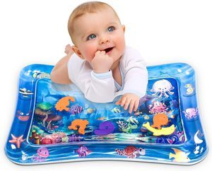#5. Infinno Tummy Time Baby Water Play Mat