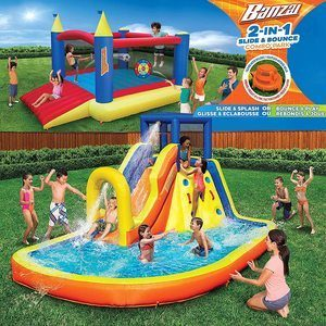 #6. Inflatable Water Slide & Bounce House