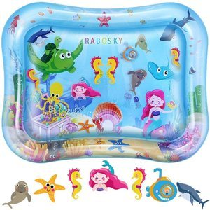 #6. Rabosky Tummy Time Baby Water Mat