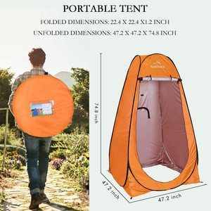 #6. Your Choice Privacy Pop Up Shower Tent