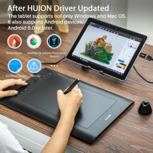 #4. Huion H610 V2Pro Graphic Drawing Tablet