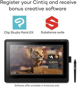 #5. Wacom Cintiq 16 (DTK1660K0A) Drawing Tablet