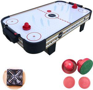 #7. HaxTON Air Hockey Plastic Table with Accessories Sets…