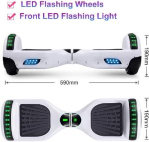 #1. SISIGAD Hoverboard Electric Self-Balancing Scooter