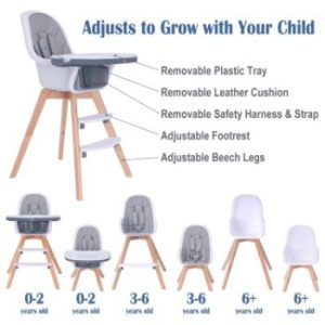 #2. Baby High Chair 3-in-1 High ChairBooster