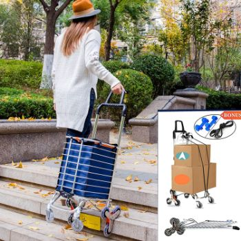 #2. Foldable Shopping Utility Cart Portable Stair