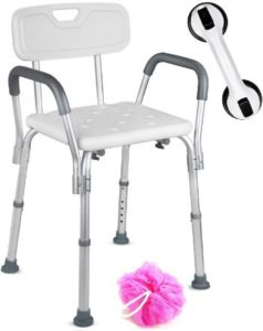 #3 Dr. Maya Shower Chair with Back and Arms Anti-Slip Bench