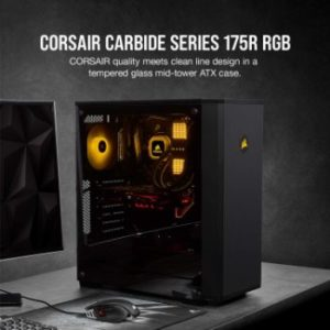 #3. Corsair Carbide Series Mid-Tower ATX Gaming Case 175R RGB