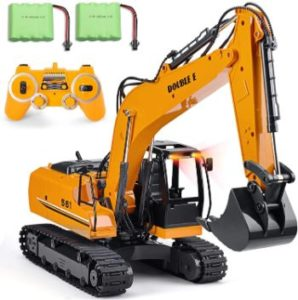 #4 DOUBLE E Remote Control Excavator Toy Metal Shovel Hydraulic