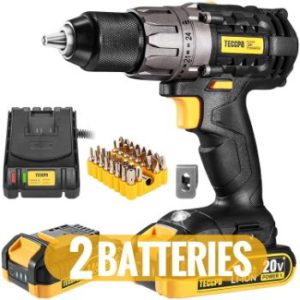 #4. 20V Cordless Drill Driver, 530 In-lbs Torque