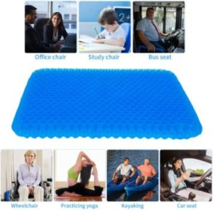 #4. Double Thick Gel Seat Cushion, Egg Seat