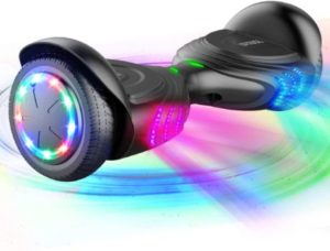 #4. TOMOLOO Music-Rhythmed Electric Hoverboard