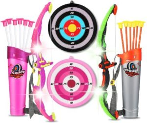 #5. 2 Sets Archery Arrow and Bow for Kids Hunting Game Outdoor
