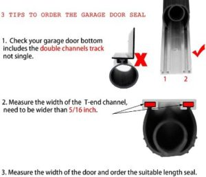 #5. BOWSEN Garage Door Bottom Weatherproof Seals