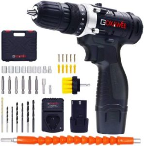 #5. GOXAWEE 2-Speed, Cordless Electric Drill Driver Max