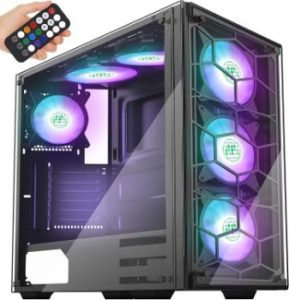 #5. MUSETEX Phantom ATX Mid-Tower Case Tempered