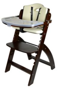 #6. Abiie Beyond adjustable Wooden High Chair Mahogany