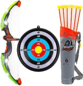 #6. Toysery Kids Bow and Arrow Set with LED Flash Lights