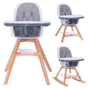 #8. Baby High Chair, 4-in-1 Wooden Booster