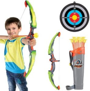 #8. Conthfut Kid's Bow and Arrow with LED Flash Lights