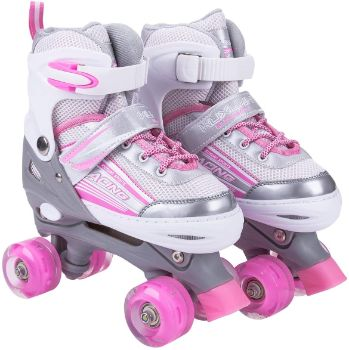 #8. Kuxuan Saya Adjustable Roller Skates for Kids