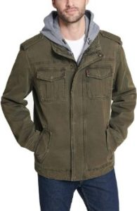#1. Levi's Men's Military Jacket Washed Cotton