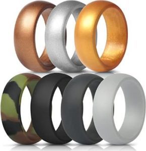 #1. ThunderFit Silicone Wedding Ring for Men