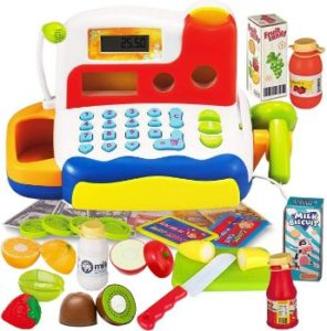#2. FUNERICA Durable Cash Register Toy for Kids