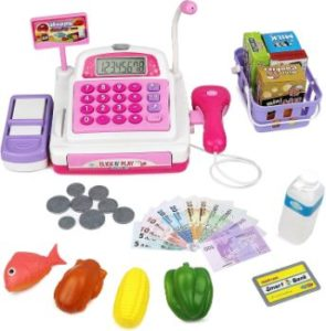 #3. Click N' Play Pretend Play Electronic Cash Register