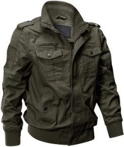 #3. EKLENTSON Men's Lightweight Military Jacket