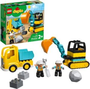 #4. LEGO DUPLO CONSTRUCTION TRUCK AND Tracked Excavator 10931