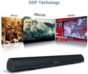 5. Bestisan Soundbar 28-inch, Wired Wireless Bluetooth 5.0